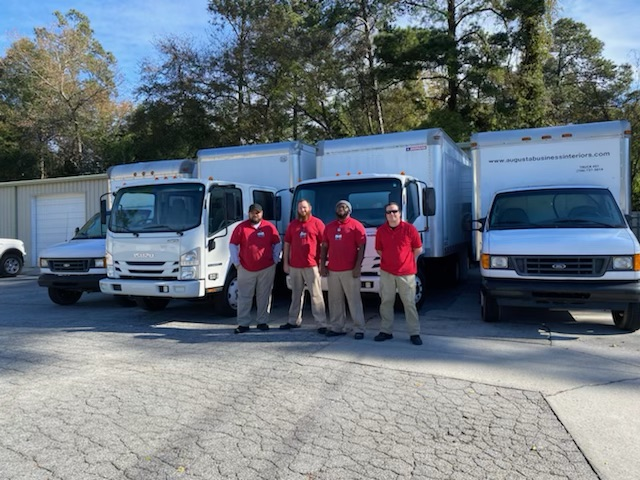 Augusta business interiors moving team